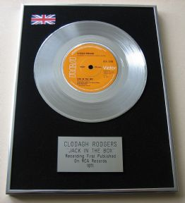 CLODAGH RODGERS - JACK IN THE BOX Platinum Single Presentation DISC